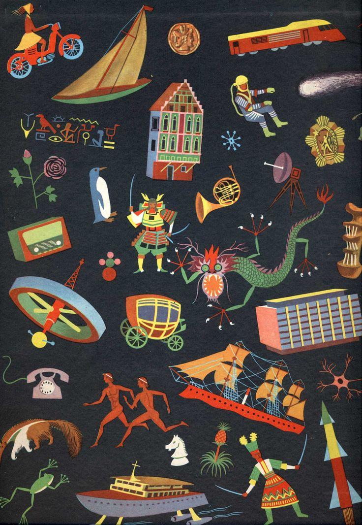 vintage Yugoslavian children's book illustration