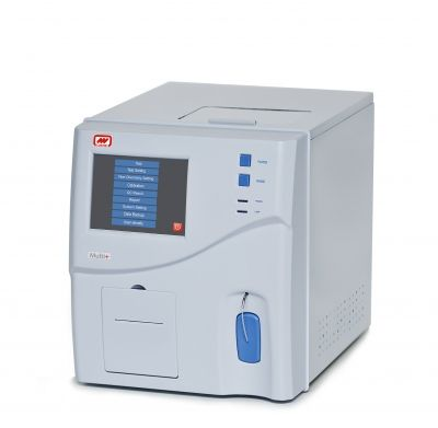 Multi + Cormay  - Semi-automatic chemistry analyzer  - Wavelenght: 330-800 nm  - Reaction cuvette: Flow-cell or plastic disposable cuvettes (10 µl)  - Report: Print synthetic report, test parameter, reaction curve, calibration curve, quality control data figure