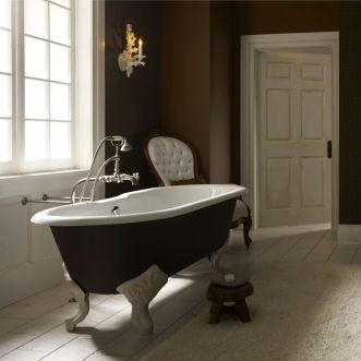 Black Exterior Soaking Tub