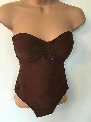 Ladies swimming #costume size 10 euro 38 #brown #strapless primark padded new swi,  View more on the LINK: 	http://www.zeppy.io/product/gb/2/262585790156/