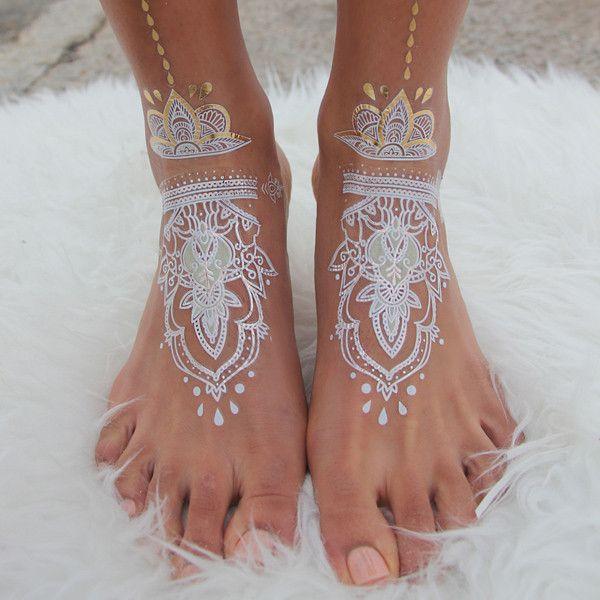 GLO TATTS® Legs Eleven Pack Metallic Temporary Tattoos - GLO TATTS  - 2