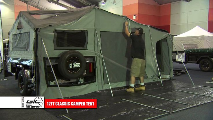 GIC CAMPERS 12ft DELUXE CAMPER TENT SETUP - YouTube