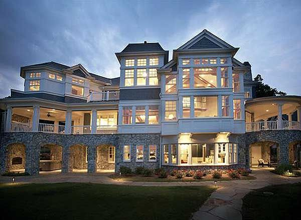 luxury house plans shingle style