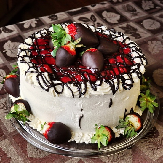 Strawberry Screech Black Forest Cake