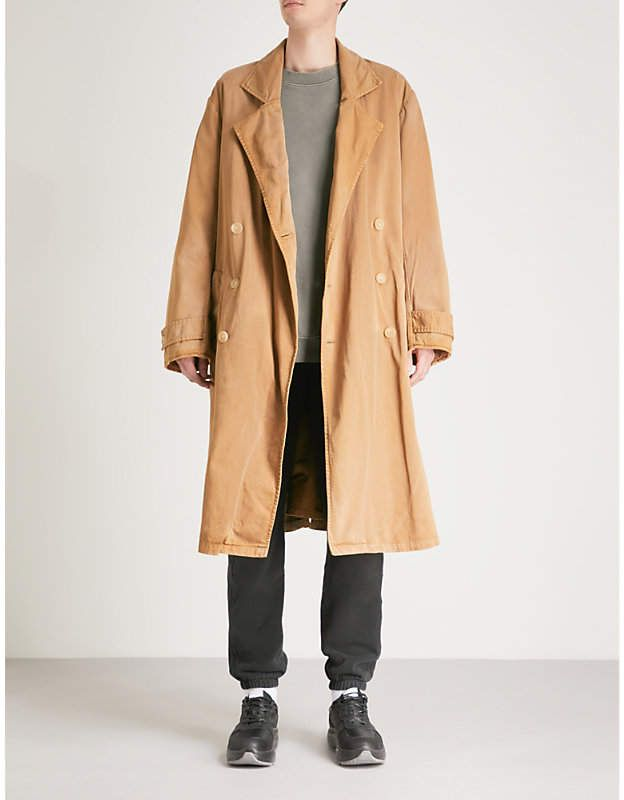 844c88f1de810 YEEZY Season 6 oversized cotton-blend trench coat