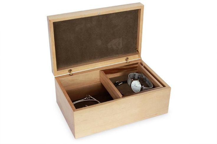 Tamar Sassafras Jewellery Box With Tray | Australian Woodwork