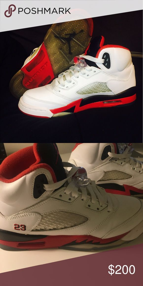 Selling this Air Jordan 5 Fire Red 2013 Release on Poshmark! My username is: nysevera. #shopmycloset #poshmark #fashion #shopping #style #forsale #Air Jordan #Shoes