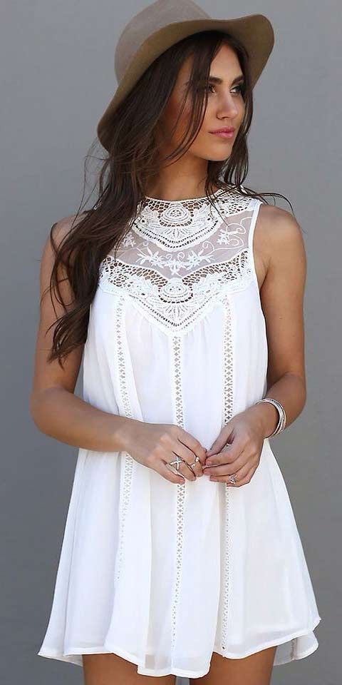 17 Best ideas about White Dress Outfit on Pinterest | White dress ...