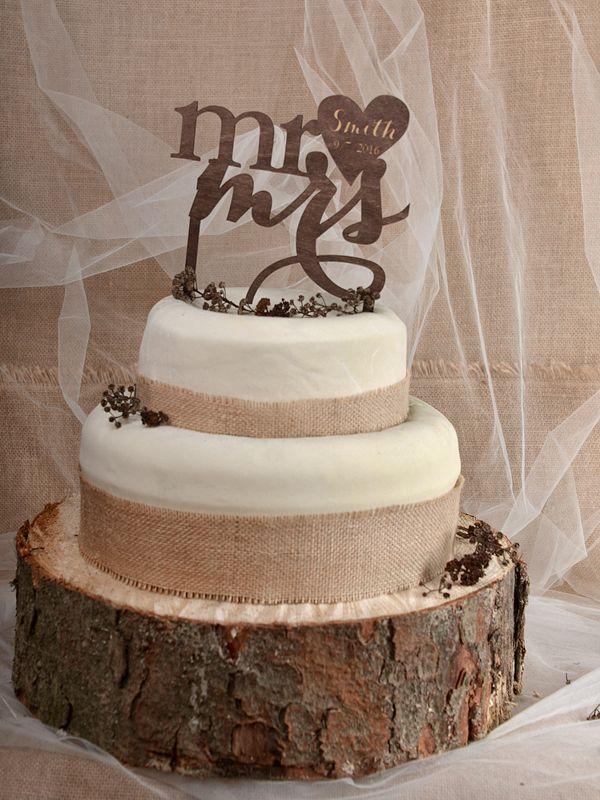 CAKE TOPPER 05/rusC/ct #rusticwedding #rusticinvitation #burlap #lace #weddingideas #weddingstyle #invitation #invitations #forestwedding #ecowedding #bridetobe #bridal #marriage #love #whiteday #weddings #lovebirds #boho #ecopaper #forest #burlap #country #cake #caketopper