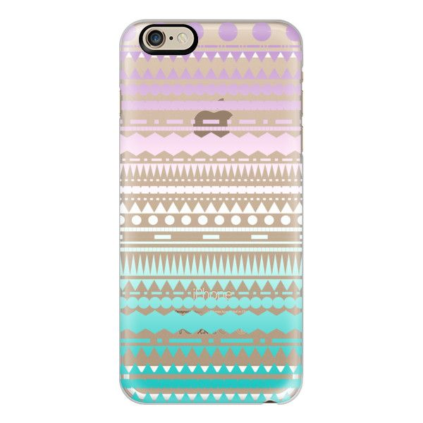 iPhone 6 Plus/6/5/5s/5c Case - Teal Lilac Ombre Aztec Transparent ($40) ❤ liked on Polyvore featuring accessories, tech accessories, phone cases, phone, electronics, capas de iphone, case, iphone case, teal iphone case and transparent iphone case