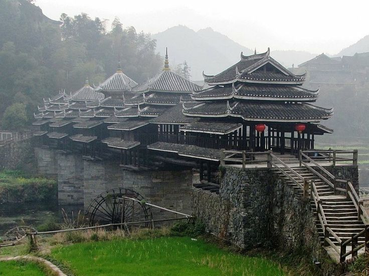 Image result for Traditional ornate bridge at Dong village