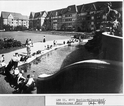 Rüdesheimer Platz um 1914, Berlin-Wilmersdorf