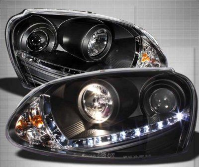 VW Jetta 2006-2009 Black HID Projector Headlights LED DRL | A103HP8N101 - TopGearAutosport