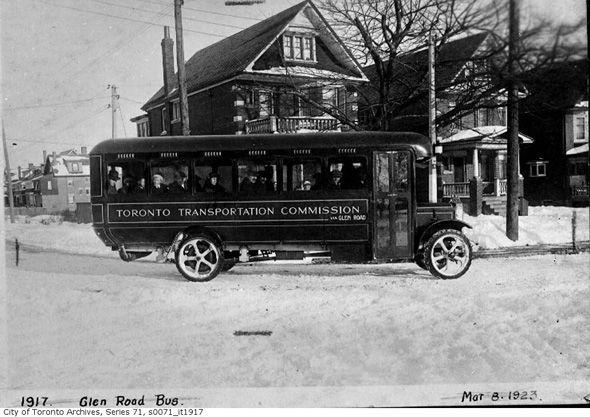 Glen Road TTC bus 1923