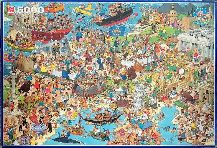 UNITED EUROPE No. of pieces: 5000 Size: 157 x 106 cm Artist: Jan van Haasteren