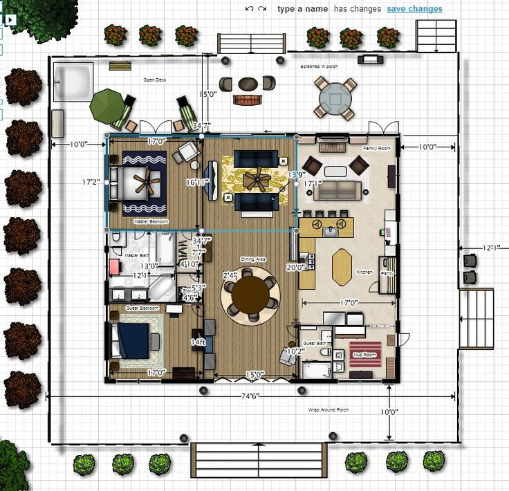 ideas about Dog Trot House on Pinterest   Cabin  House plans    dog trot house plans   created this dream in floor planner and as you