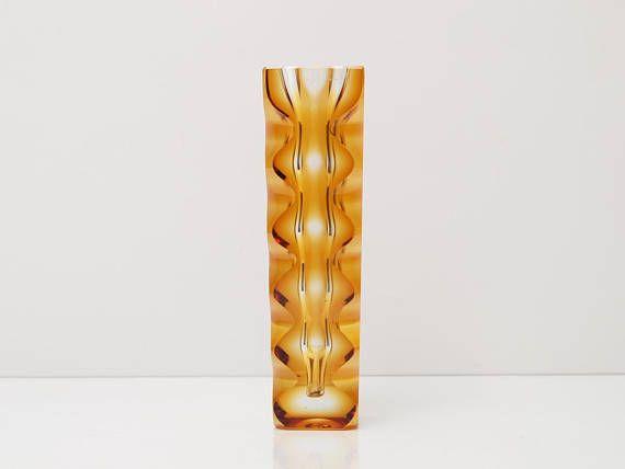 OLDRICH LIPSKY for EXBOR Sklo Union Modernist Bohemian Glass