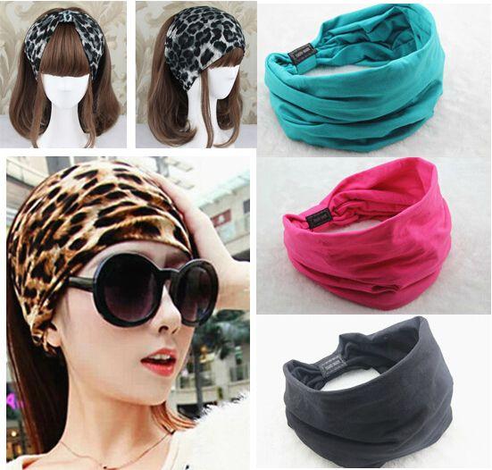 2017 Nieuwe verscheidenheid van slijtage methode Katoen Elastische Sport Brede vrouwen Hoofdbanden voor vrouwen haaraccessoires tulband hoofdband hoofddeksels