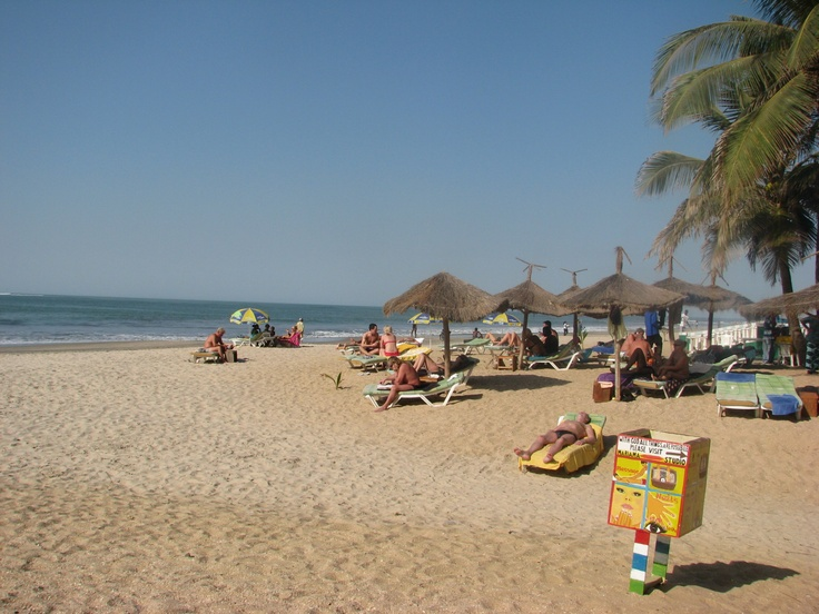 Beautiful Kololi beach, Gambia