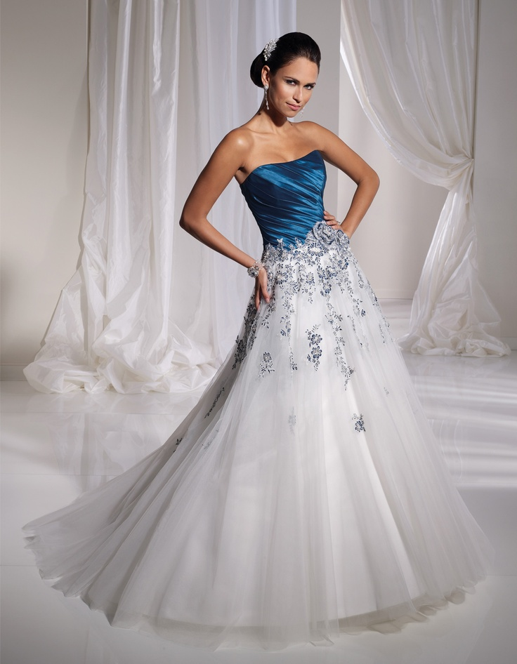125 Best Wedding Dresses With Color Images On Pinterest Wedding