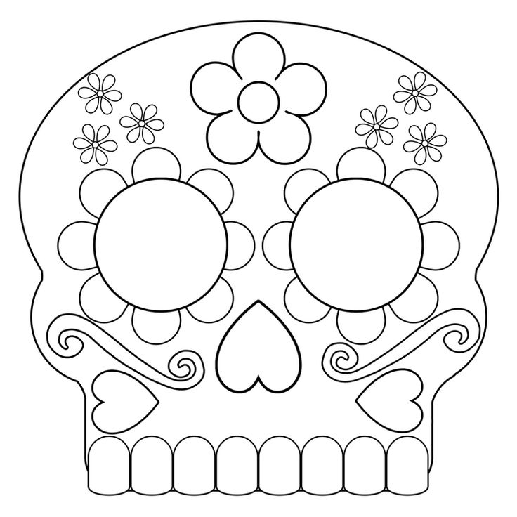 Day of the Dead Masks Sugar Skulls Free Printable ...