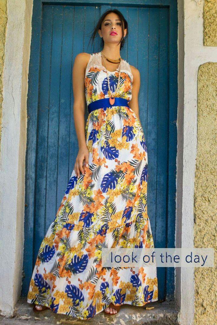 Καλή εβδομάδα με χρώμα και χαμόγελο 🌼🌸🌺 Μάξι αέρινο φόρεμα με ζώνη στη μέση ~ Μια επιλογή για όλες τις ώρες!  #queenfashion #collection #summer #look #style #outfit #beaqueen