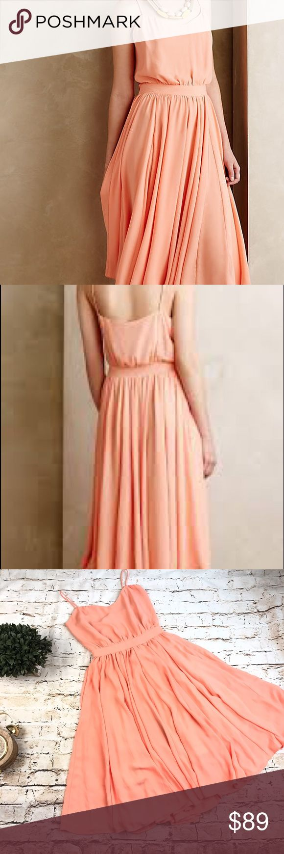 Anthropologie Paper Crown Women's Peachtree Dress Anthropologie Paper Crown Women's Peachtree Dress Full Skirt Spaghetti Strap 2 Gorgeous dress from Lauren Conrad sold at Anthro. Poly crepe, set in waist, blouson bodice, side zip. Features: Brand: Paper Crown for Anthropologie Color:  Peach Gender: Women's Dress Length: Below Knee Style: Full Skirt Size: 2 Sleeve Style: Spaghetti Strap Size Type: Regular Material: 100% Polyester Measurements: Bust (in): 17  Waist (in):12.5  Total Length…