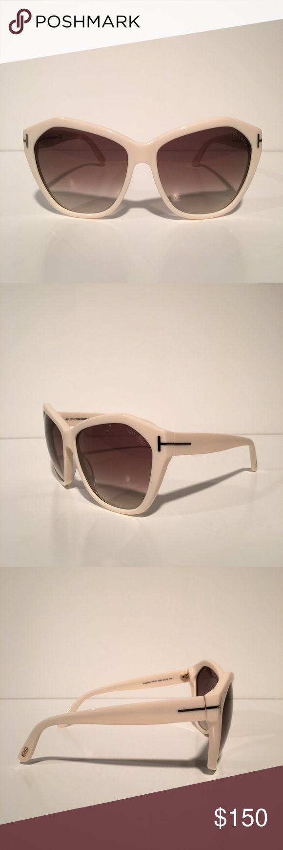 Tom Ford Angelina White Oval Sunglasses Brand New With Box And Cloth. Made In Italy Tom Ford Accessories Sunglasses