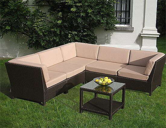 Bridgman Windsor 6 Piece Modular Sofa Set Modern Patio Furniture Quality Garden Furniture Rattan Garden Furniture Sets