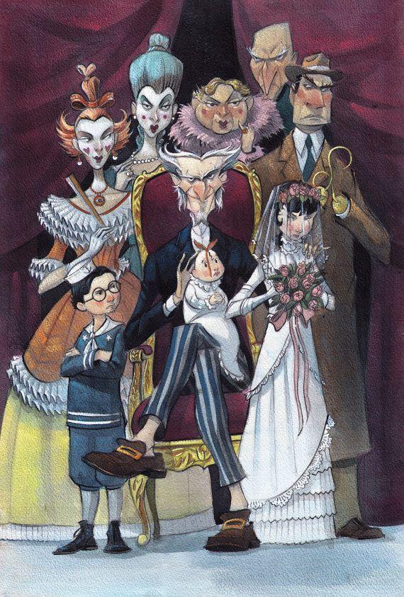 O Casamento Maravilhoso - Poster de BrettHelquistArt on Etsy