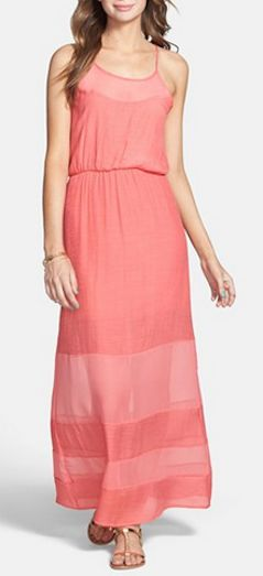 Panel maxi dress in #coral - only $50! http://rstyle.me/n/jqqivnyg6