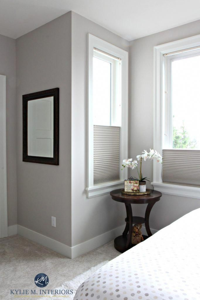 Benjamin Moore Abalone in a guest bedroom wtih cellular ...