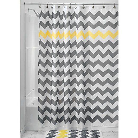 Interdesign Microfiber Bathroom Shower Accent Rug: 1000+ Ideas About Gray Chevron Bathroom On Pinterest