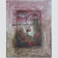 Název díla: Flétna,  autor: Jitka Gavendová, technika: akryl - náhled obrázku