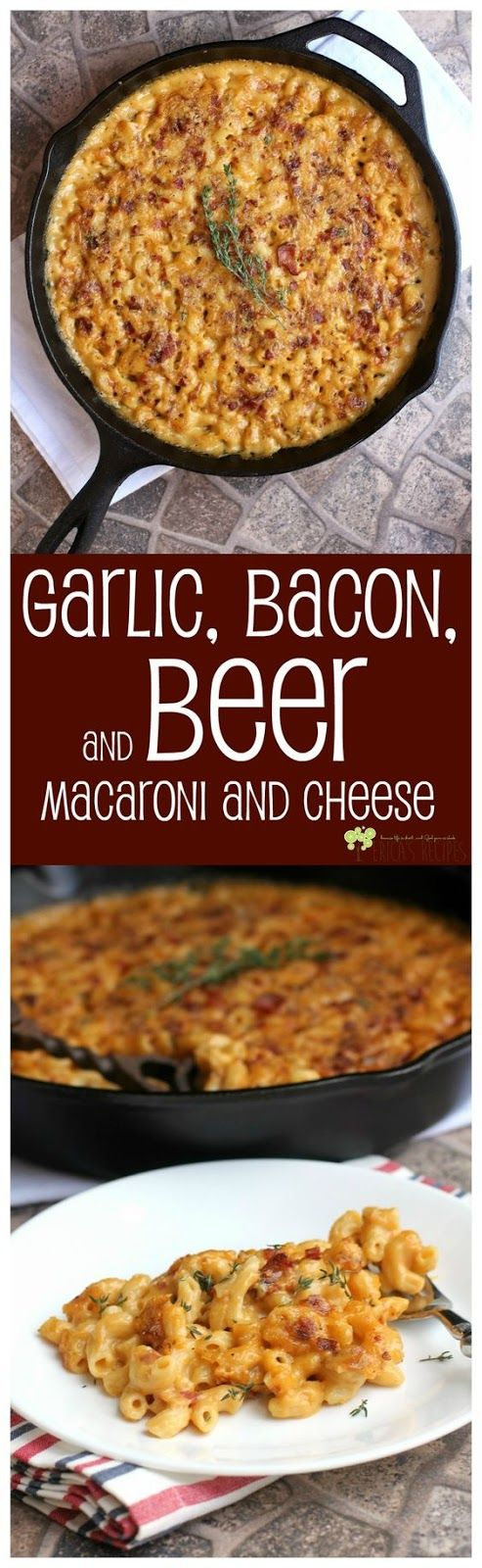 Garlic, Bacon, and Beer Macaroni and Cheese | Food And Cake Recipes