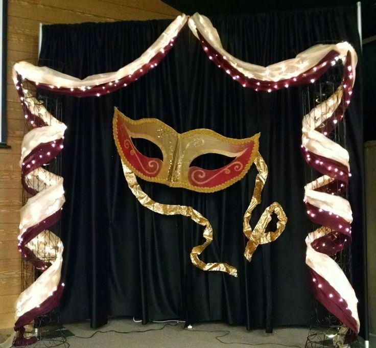 Masquerade Prom backdrop