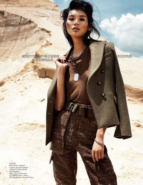 Vogue China September 2012 - Army-Chic Fashion