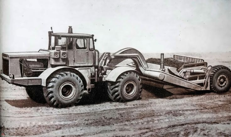 ДЗ-74 на базе трактора К-700 с оборудованием скрепер 1971 год
