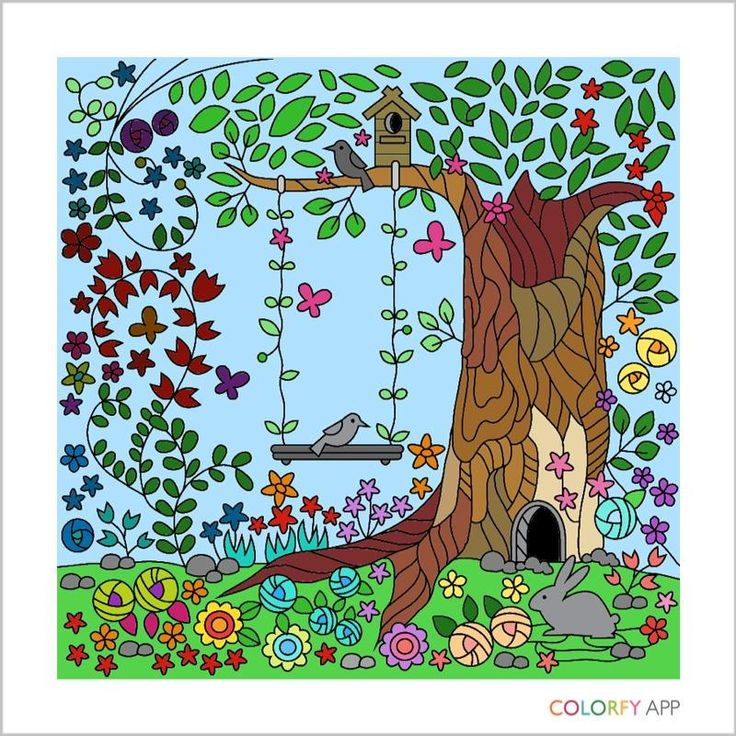 Color A Beautiful Garden Using Colorfy Online Coloring