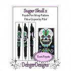 Bead Pattern Peyote(Pen Wrap/Cover)-Sugar Skull 2