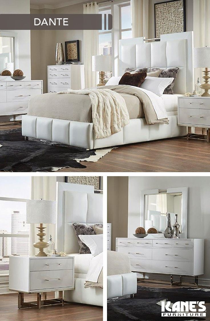 Dante White Queen Bedroom In 2019 Lacquer