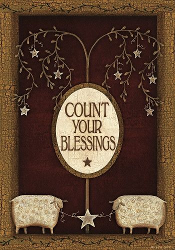 Custom Decor Flag - Count Your Blessings Sheep Decorative Flag at Garden  House F