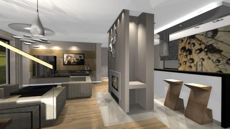 Projekt aranżacji salonu