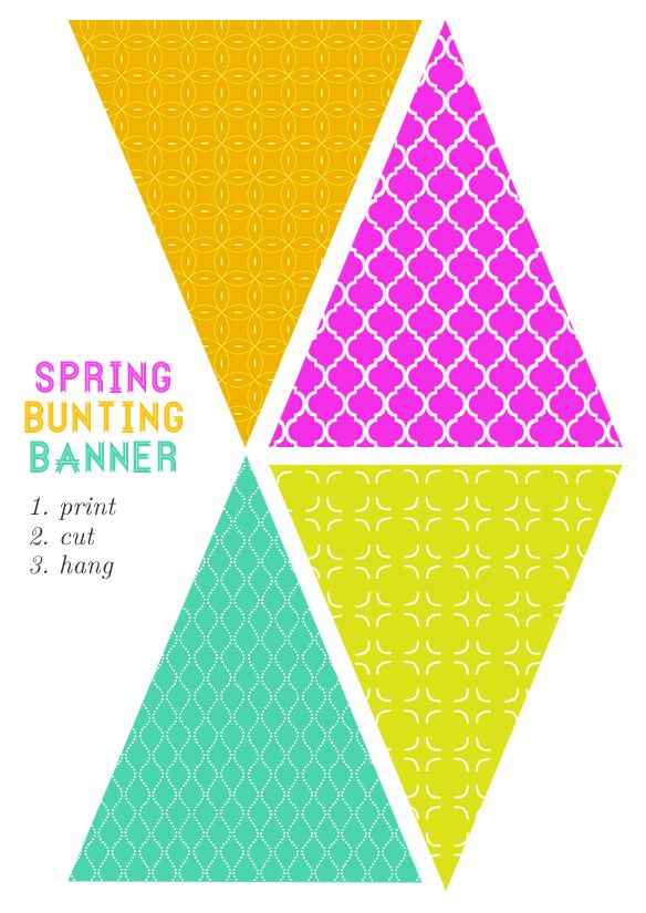 Free printable bunting banner