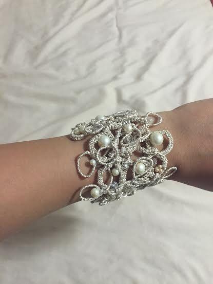Beautiful wedding bracelet-handmade and unique от Lottaart на Etsy