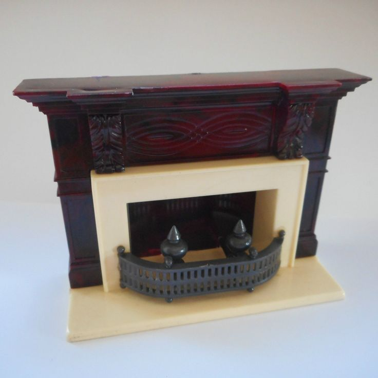 Ideal Fireplace Vintage 1960 39 S Plastic Tin Dollhouse Furniture Fits Marx Renwal