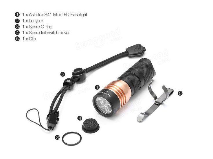 Astrolux S41 4x Nichia 219B/XP-G3 A6 1600Lumens Mini LED Flashlight