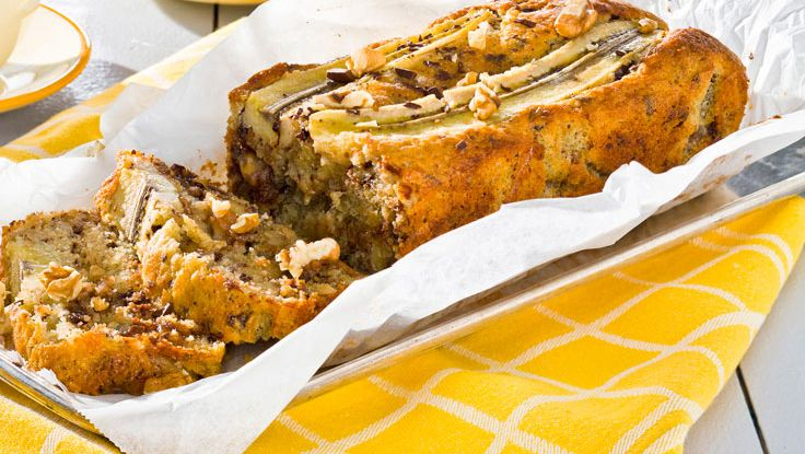 Banankaka med nötter, choklad ochdumlekolor recept