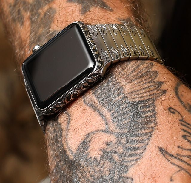 """The Hand-Engraved In America Apple Watch By Made Worn - see more in Ariel's writeup over at Forbes """"Long after the first generation Apple Watch is no longer useful as a technology item – being supplanted by subsequent generations of Apple wearables – this hand-engraved Apple Watch is still going to be an appreciable and fascinating work of art…"""" And see our hands-on with Made Worn's hand-engraved Rolex watches here: http://www.ablogtowatch.com/madeworn-american-hand-engraved-rolex-watches/"""