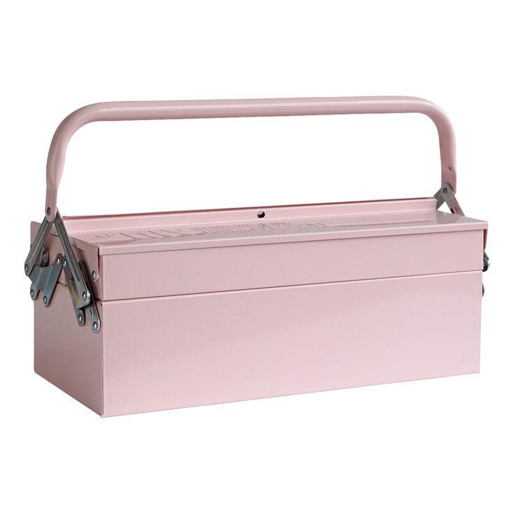 Työkalupakki, vaaleanpunainen ryhmässä Sisustustavarat / Koristerasiat / Muut säilytys @ ROOM21.fi (130821)